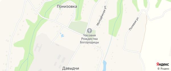 Центральный переулок на карте деревни Давыдчичи с номерами домов