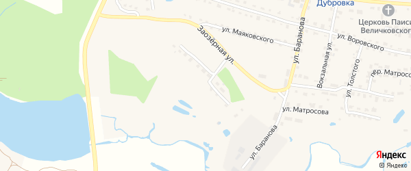 Октябрьская улица на карте поселка Дубровки с номерами домов