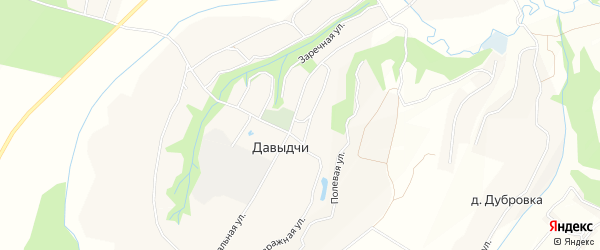 Карта деревни Давыдчичи в Брянской области с улицами и номерами домов