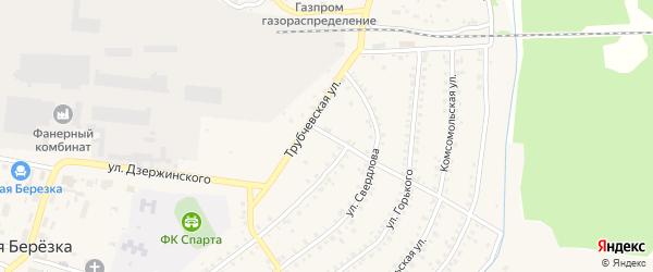 Лесной переулок на карте поселка Белой Березки с номерами домов