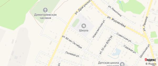 Коммунальная улица на карте поселка Дубровки с номерами домов