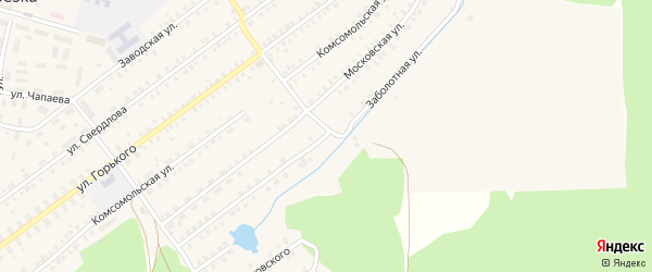 Заболотная улица на карте поселка Белой Березки с номерами домов