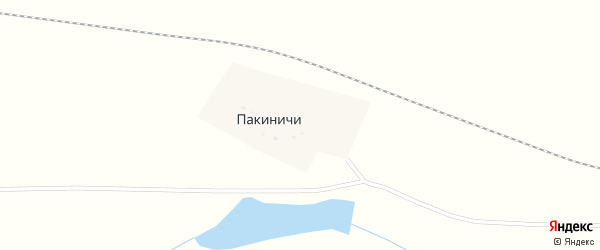 Полевая улица на карте деревни Пакиничей с номерами домов