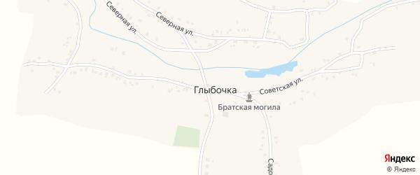 Советская улица на карте деревни Глыбочки с номерами домов