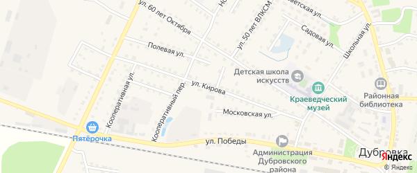 Улица Кирова на карте поселка Дубровки с номерами домов