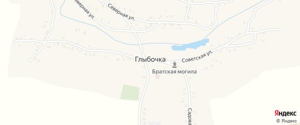 Цветной переулок на карте деревни Глыбочки с номерами домов