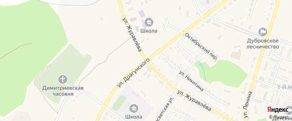 Улица Драгунского на карте поселка Дубровки с номерами домов