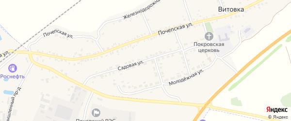 Садовая улица на карте села Витовки с номерами домов