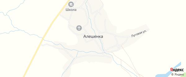 Карта села Алешенки в Брянской области с улицами и номерами домов