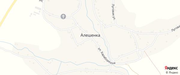 Школьная улица на карте села Алешенки с номерами домов