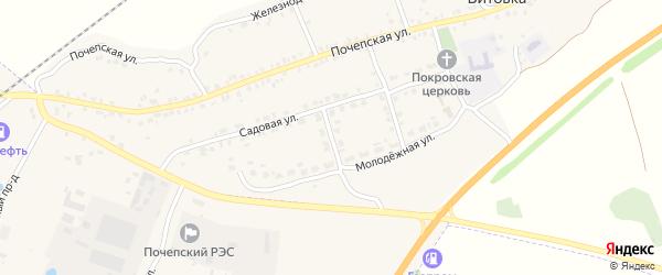 2-й Садовый переулок на карте села Витовки с номерами домов