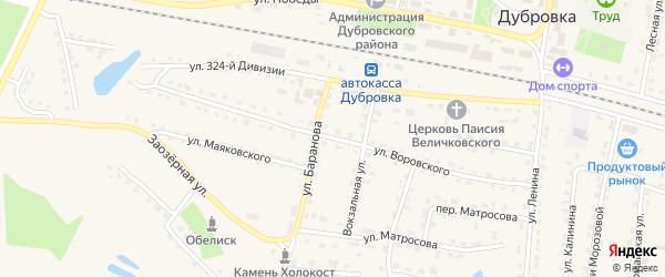 Улица Воровского на карте поселка Дубровки с номерами домов