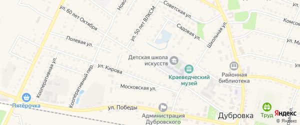 Улица 60 лет Октября на карте поселка Дубровки с номерами домов