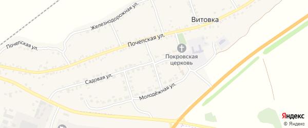 1-й Садовый переулок на карте села Витовки с номерами домов