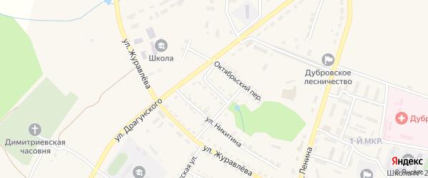 Пионерский переулок на карте поселка Дубровки с номерами домов