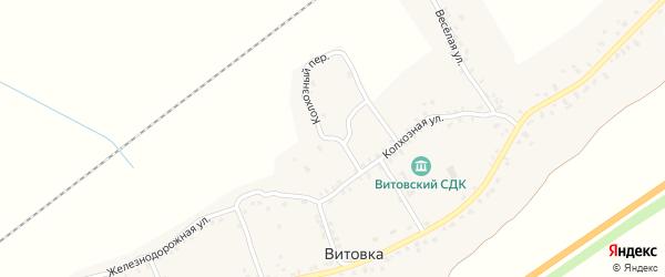 Колхозный переулок на карте села Витовки с номерами домов