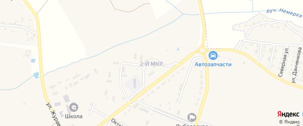 2-й микрорайон на карте поселка Дубровки с номерами домов