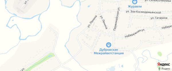 Южная улица на карте поселка Дубровки с номерами домов