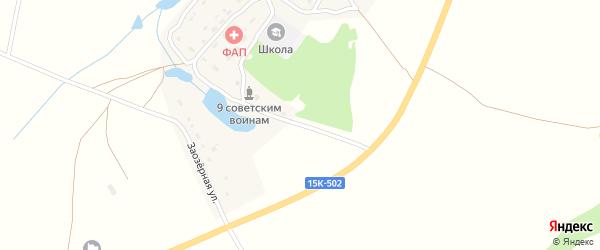 Школьная улица на карте деревни Мареевки с номерами домов