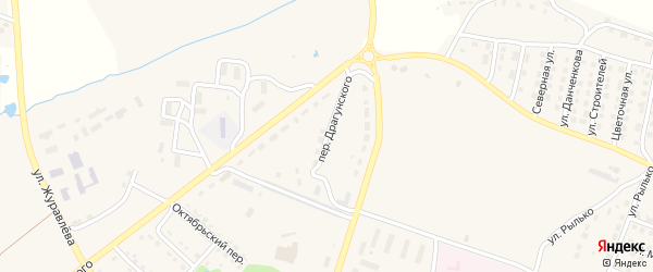Переулок Драгунского на карте поселка Дубровки с номерами домов