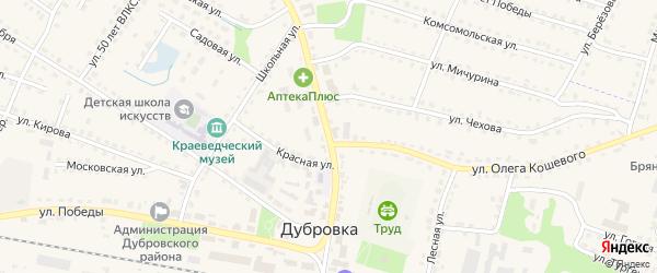 Территория ХП по улице Ленина Блок 1 на карте поселка Дубровки с номерами домов