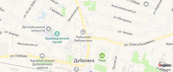 Улица Ленина на карте поселка Дубровки с номерами домов