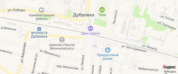 Улица 324 Дивизии на карте поселка Дубровки с номерами домов