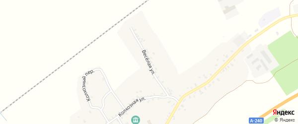 Веселая улица на карте села Витовки с номерами домов