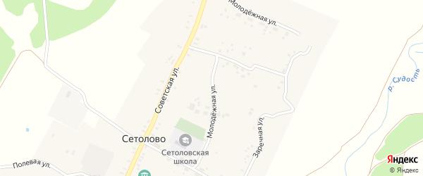 Молодежная улица на карте села Сетолово с номерами домов