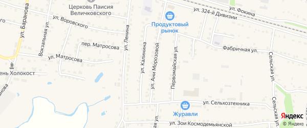 Улица Ани Морозовой на карте поселка Дубровки с номерами домов