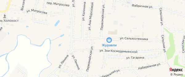 Первомайская улица на карте поселка Дубровки с номерами домов