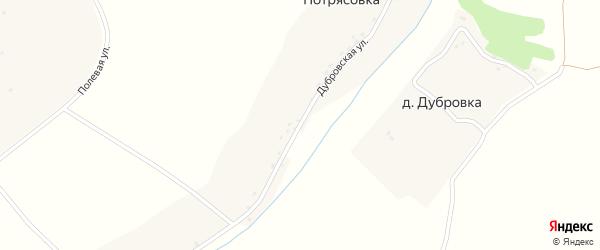Дубровская улица на карте деревни Потрясовки с номерами домов