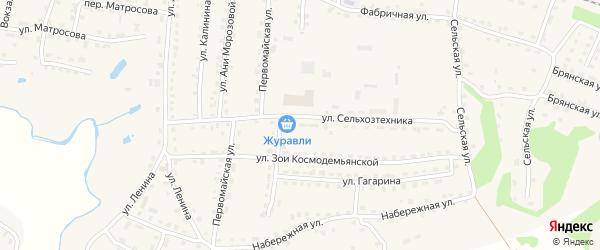 Территория Гаражи по улице Сельхозтехника Блок 3 на карте поселка Дубровки с номерами домов