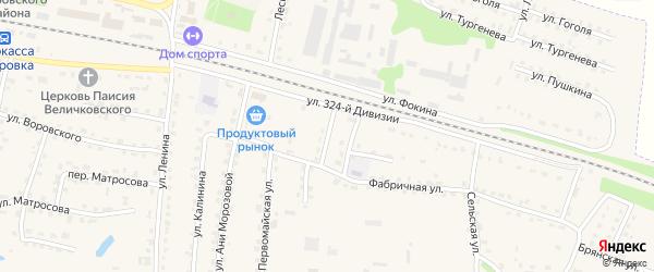 1-й Фабричный переулок на карте поселка Дубровки с номерами домов