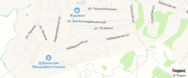 Набережная улица на карте поселка Дубровки с номерами домов