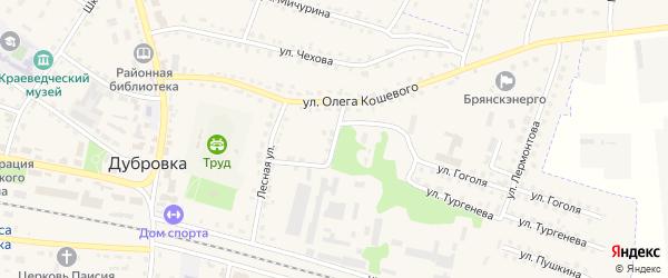 Военкоматская улица на карте поселка Дубровки с номерами домов