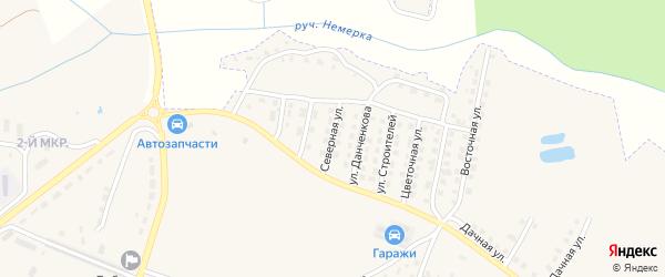 Северная улица на карте поселка Дубровки с номерами домов
