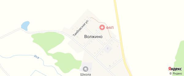 Новозыбковская улица на карте деревни Волжино с номерами домов