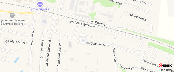 2-й Фабричный переулок на карте поселка Дубровки с номерами домов