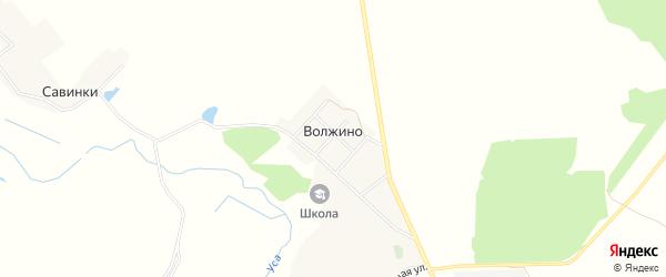 Карта деревни Волжино в Брянской области с улицами и номерами домов