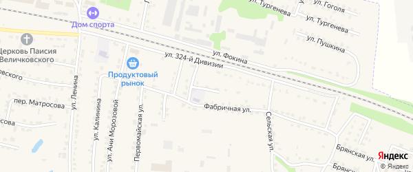 Территория Гаражи по улице Микрорайон 1 Блок 4 на карте поселка Дубровки с номерами домов