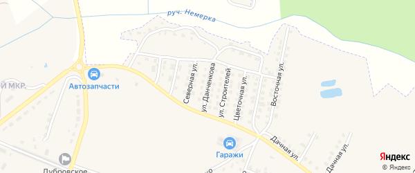 Улица Данченкова на карте поселка Дубровки с номерами домов