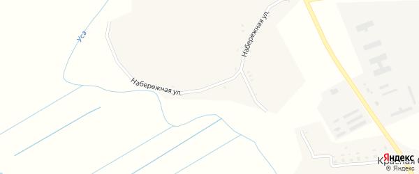 Набережная улица на карте деревни Волжино с номерами домов
