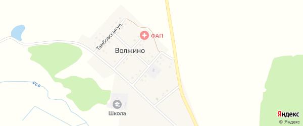 Улица Лейтенанта Гончарова на карте деревни Волжино с номерами домов
