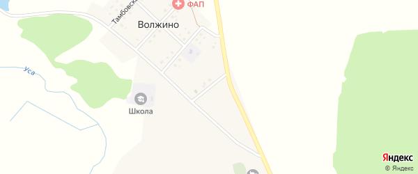 Улица Громышева на карте деревни Волжино с номерами домов