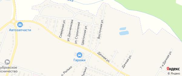 Улица 27 Съезда КПСС на карте поселка Дубровки с номерами домов
