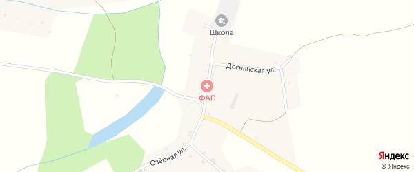 Школьная улица на карте села Осовика с номерами домов