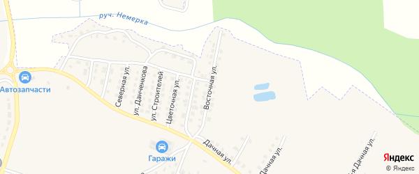 Восточная улица на карте поселка Дубровки с номерами домов