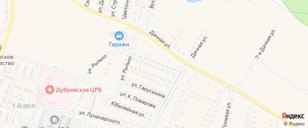 Улица Интернационалистов на карте поселка Дубровки с номерами домов