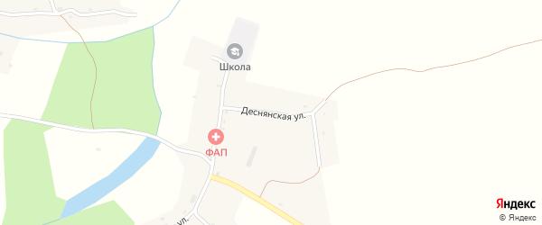 Деснянская улица на карте села Осовика с номерами домов